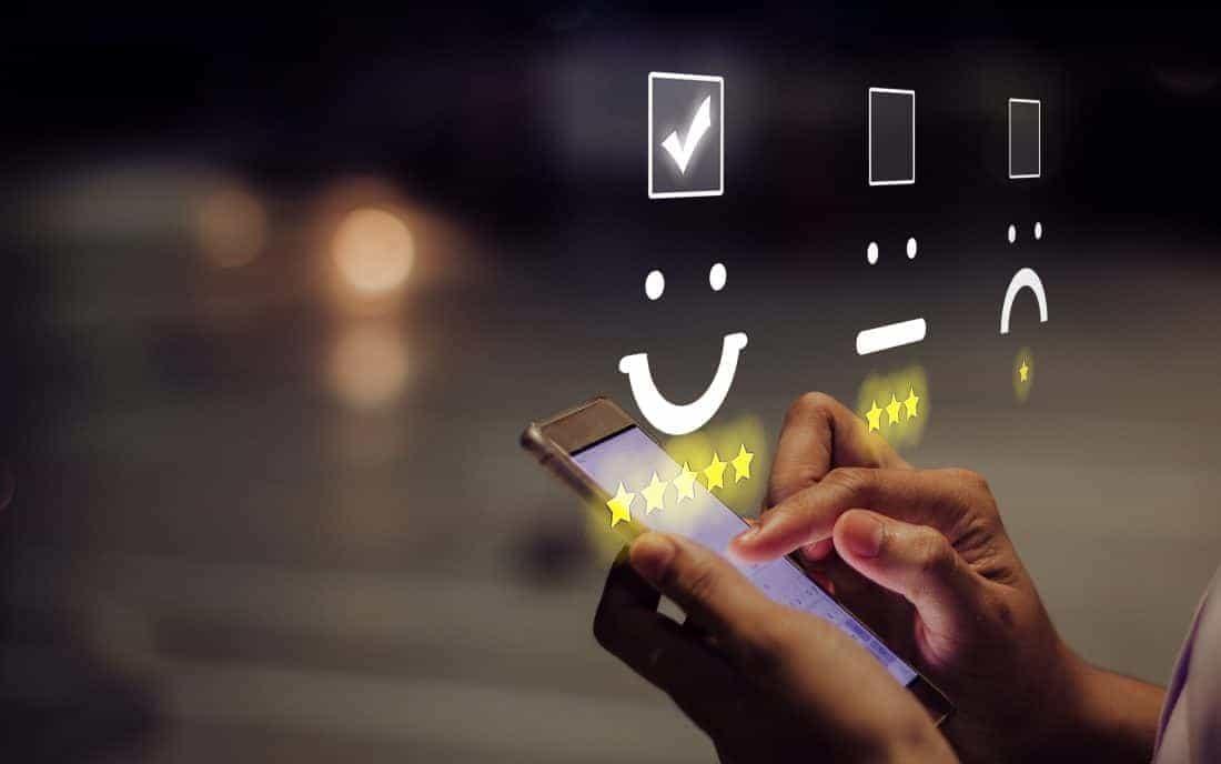 Kundenbewertung per Smartphone